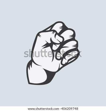 Raised Fist Tattoo Design