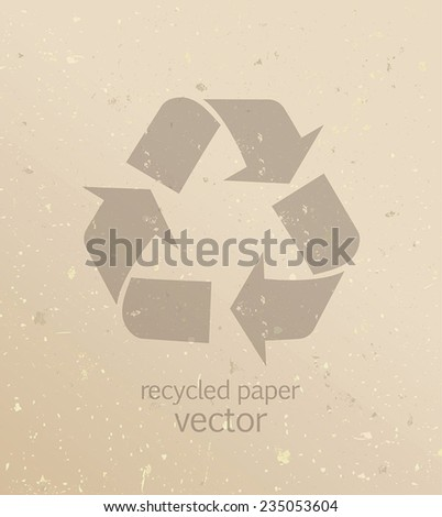Vector illustration recycle paper - stock vector