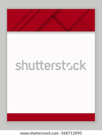 Vector illustration: red abstract background with digital material design  style in bright red and white colors