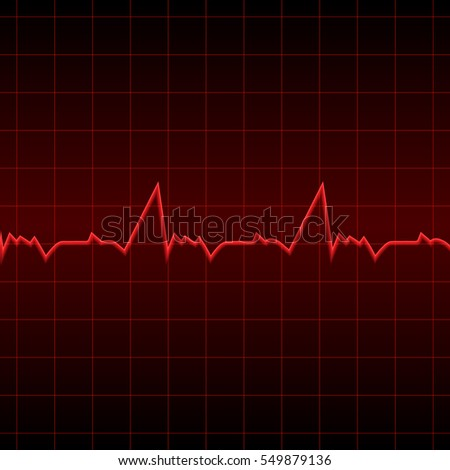 Vector illustration red electrocardiogram on black stock photo vector illustration red electrocardiogram on a black background designed for medical banners posters stopboris Images