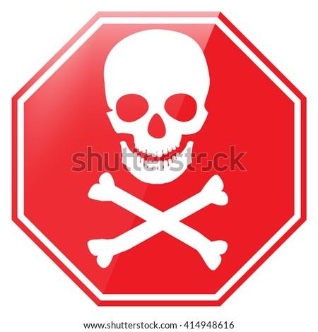 Vector Illustration Red Octagon Danger Sign Stock Vector ...