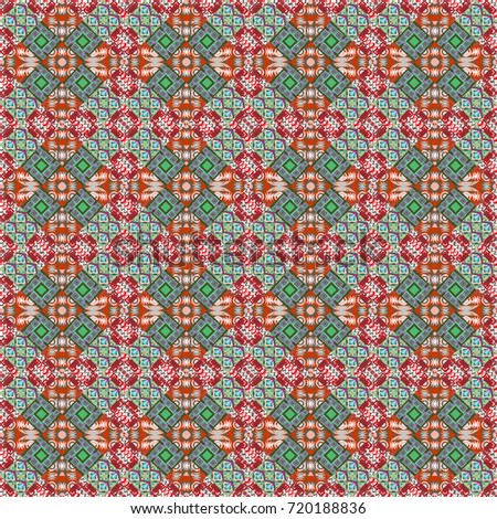 Retro Seamless Wallpaper Pattern Vintage Neutral Red And Green Backgrounds With