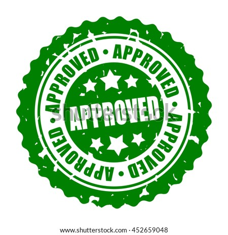 Vector illustration round stamp APPROVED