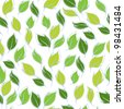 Vector illustration. Seamless pattern of leaves. - stock vector