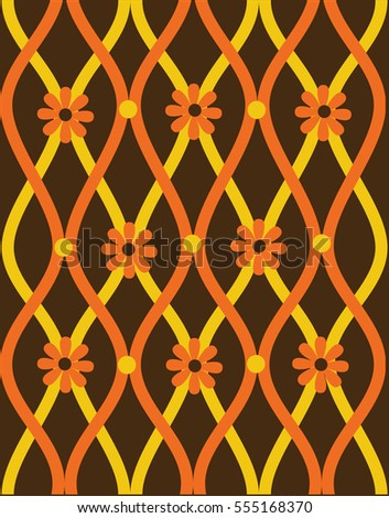 Vector Illustration  Seamless vintage pattern