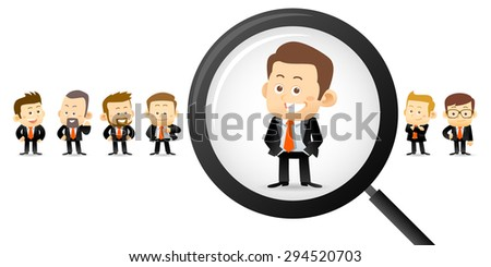 Vector illustration - Searching right man