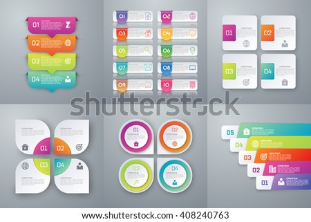 Vector illustration set infographics. Template for brochure, business, web design