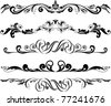 Vector illustration:  set of decorative horizontal elements for design - stock vector
