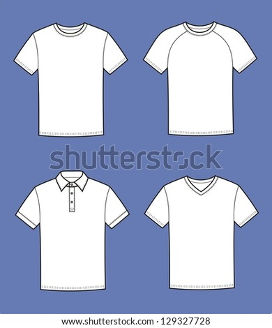 Vector illustration. Set of men's t-shirts - stock vector