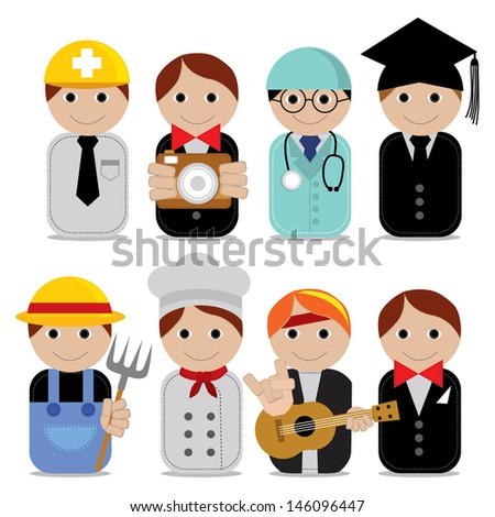 Vector illustration - set of people occupations icons.EPS10