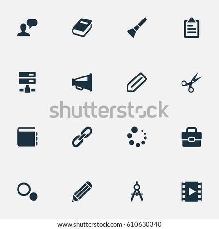 Vector illustration set simple design icons stock vector 2018 vector illustration set of simple design icons elements hand lantern loading blueprint synonyms malvernweather Gallery