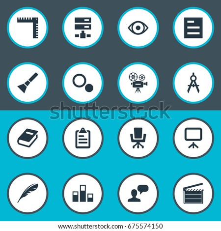 Vector illustration set simple design icons stock photo photo vector illustration set of simple design icons elements occupation settings measurement and other malvernweather Images