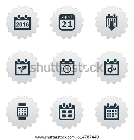 vector illustration set simple plan icons stock vector 614787440