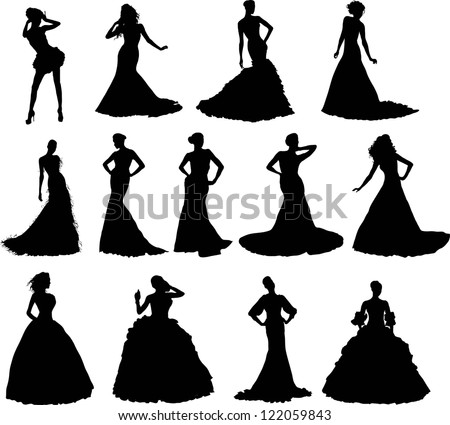 Dress Silhouette Stock Images Royalty Free Images