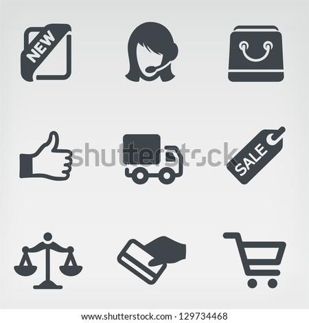Vector illustration shopping on light background - stock vector