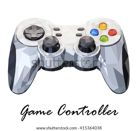 Vector illustration showing Game Controller isolated on a white background - stock vector