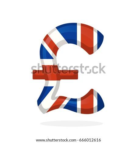 Vector Illustration Sign British Pound National Stock Photo Photo