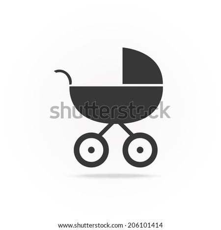 vector illustration silhouette buggy - stock vector