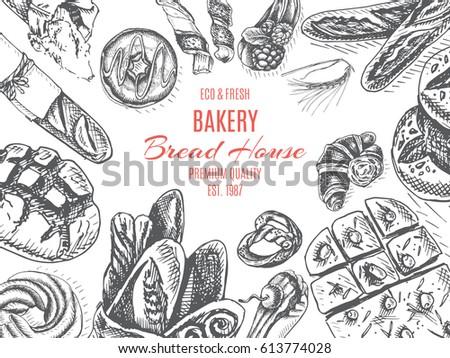 bakery menu stock images royalty free images vectors shutterstock. Black Bedroom Furniture Sets. Home Design Ideas
