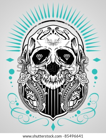 Skull illustration gangster stock vector 184761470 for How to copyright t shirt designs