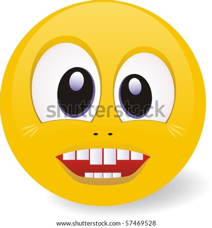vector illustration. Smile Face - stock vector