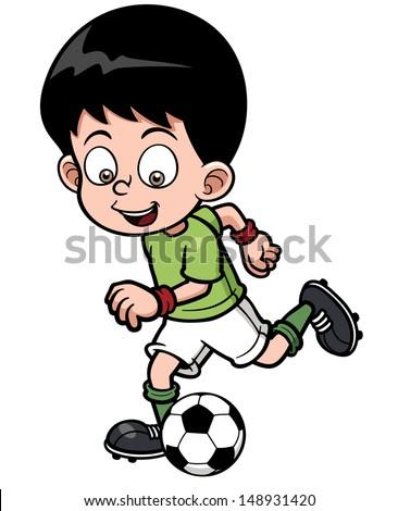 Vector illustration Soccer player - stock vector