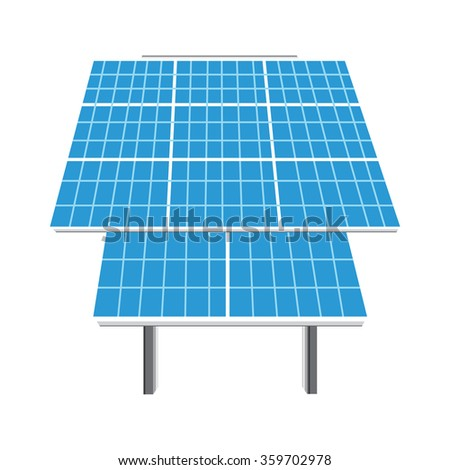 Vector illustration solar panel icon. Photovoltaic electric solar panel. Renewable energy. Ecology energy - stock vector