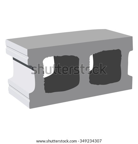 Concrete+block on Cinder Block Wall Isometric