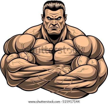 Bodybuilding stock images royalty free images vectors - Cartoon body builder ...