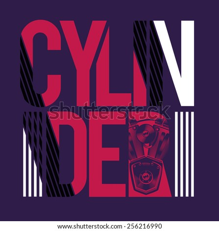 vector illustration stylish print cylinder and labeled with the image of  the cylinder on the letter. R shirt Stock Photos  Royalty Free Images   Vectors   Shutterstock