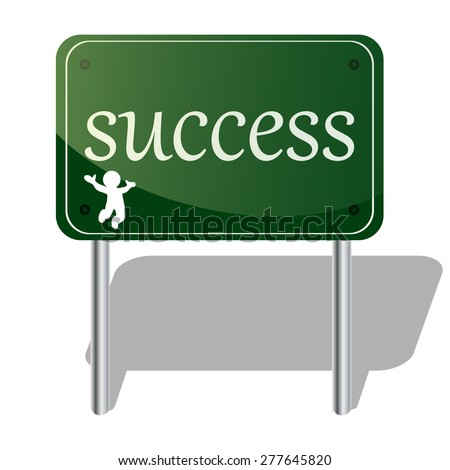 vector illustration success board - stock vector