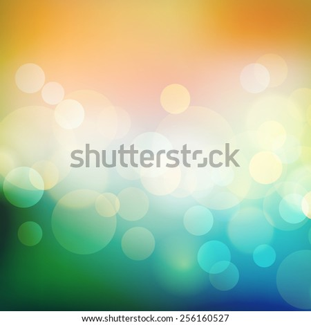 Vector  illustration Summer Abstract holiday light background with sea and sun bokeh