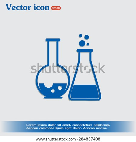 Vector illustration Test tube vector icon  - stock vector