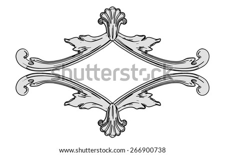 Vector illustration, the sculptural form on a white background