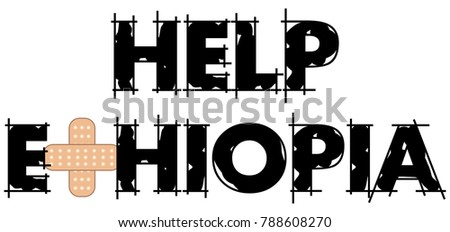 Vector Illustration Help Ethiopia One Poorest Stock Vector - One of the poorest countries in the world