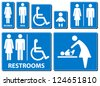Vector illustration toilette sign - stock photo