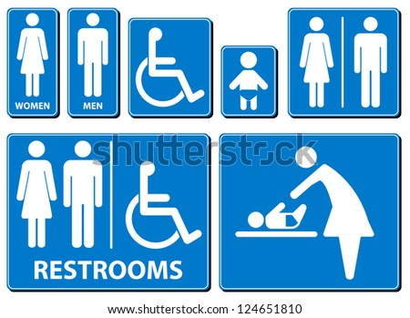 Vector illustration toilette sign - stock vector