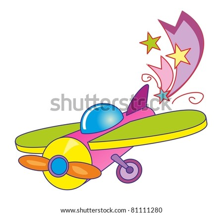 vector illustration - toy airplan - stock vector
