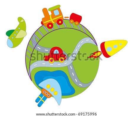 Vector illustration. Transport. - stock vector