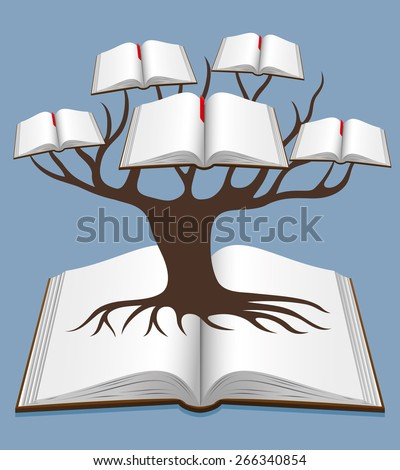 Vector illustration. Tree of knowledge. - stock vector