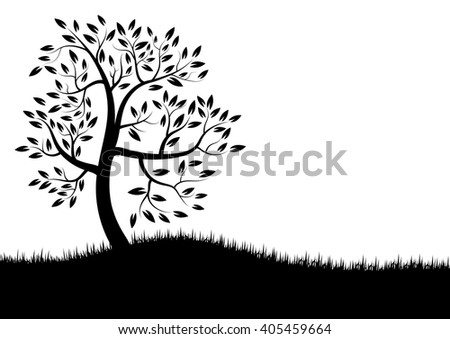 Vector Illustration : Vector tree silhouette