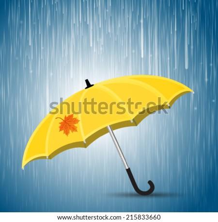 Vector illustration. Vector umbrella. - stock vector