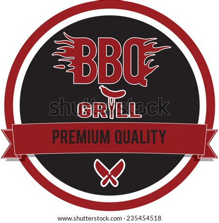 Vector illustration vintage style bbq barbecue menu st stock