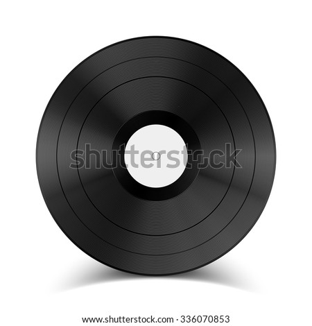 Vector illustration vinyl record. Retro. Music icon. EPS 10