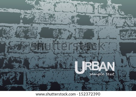 Vector illustration wall, stone road. Urban design - stock vector