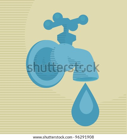 vector illustration water drop concept - stock vector