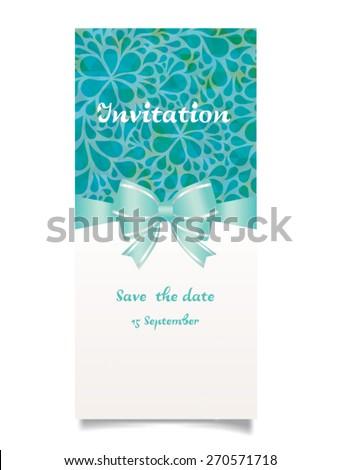 Vector illustration. Wedding invitation card. - stock vector