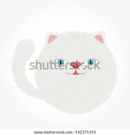 Vector Illustration/White Cat
