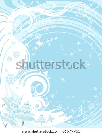 vector illustration, winter background, card concept. - stock vector