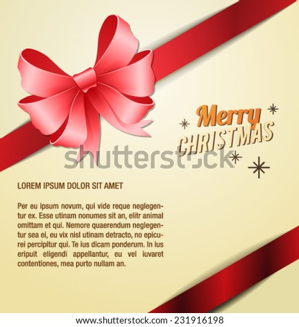 Vector illustration with christmas and